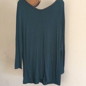 Zara turquoise tunic top
